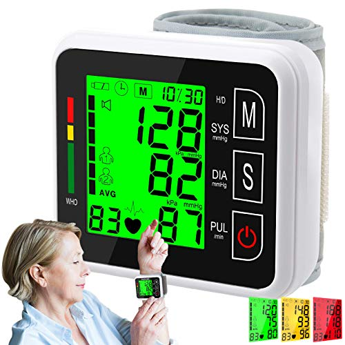 VERYCOZY Blood Pressure Monitor, Wrist Bp Monitor Cuff with Large Screen, 2X99 Memory, Automatic Digital Blood Pressure…