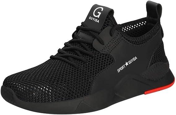 ZODOF Zapatillas Calzado Deportivo Hombres Puntera de Acero Entrenadores La Seguridad Zapatos de Trabajo Mujer Respirable Zapatillas Running Sneakers: Amazon.es: Ropa y accesorios