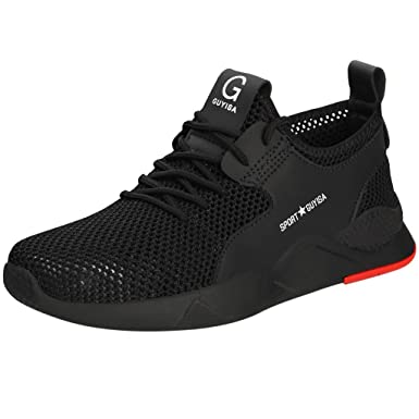 29ebfd24bda12 Amazon.com: Steel Toe Shoes for Men Women Mesh Lace-up Breathable ...