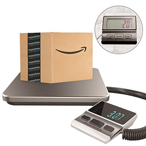 Postal Scale Heavy Duty Digital for Shipping and Postal with Durable Stainless Steel Large Platform, 440 lbs Capacity x 6 oz Readability , UPS USPS Post Office Postal Scale and Luggage Scale