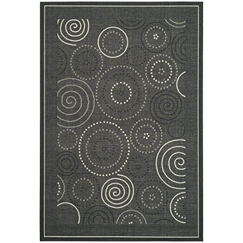 12' Sand Area Rug (Safavieh Courtyard Collection CY1906-3908 Black and Sand Indoor/ Outdoor Area Rug (9' x 12'))