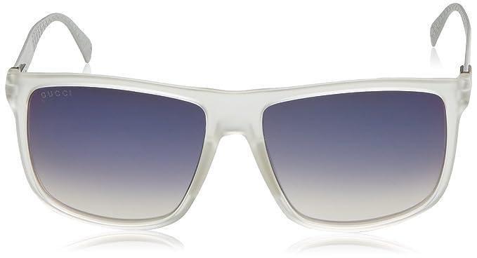 cdffeef0eb Amazon.com  Gucci Men s GG 1075 S Crystal Palladium Dark Gray Infrared   Clothing