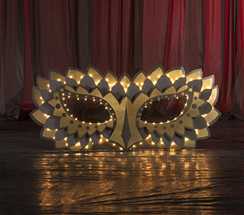 3 ft. 6 in. Mardi Gras Midnight Masquerade 3D Mask Prop Standup Photo Booth Prop Background Backdrop Party Decoration Decor Scene Setter Cardboard Cutout -