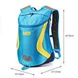Cheap OUTRY Lightweight Backpack, 15L Daypack (Blue&Yellow)