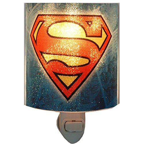 Westland Giftware Superman Logo Acrylic Nightlight with Rotating Plug and On/Off - Superman Light Night