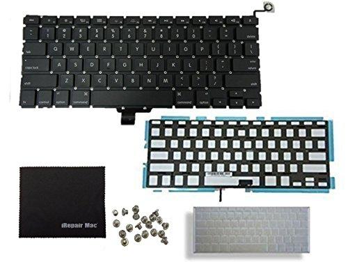 Teclado para Macbook Pro de 13 pulgadas A1278 2009 2010 2011 2012 2013 Us Layout teclado + teclado retroiluminación módulo + tornillos + teclado piel ...