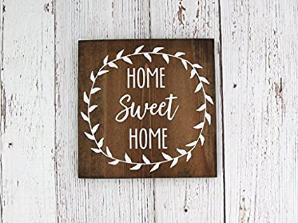 Amazon Com Handmade Wooden Signs Home Sweet Home Rustic