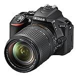 Nikon D5500 SLR-Digitalkamera (8,1 cm (3,2 Zoll), 24,2 Megapixel, neig-/drehbares Touchscreen-Display, 39 AF-Messfelder, Full-HD-Video, Wi-Fi, HDMI) Kit inkl. DX 18-140mm VR Objektiv schwarz