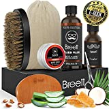Beard Grooming Kit for Mens, Beard Care Kit 6 Pcs, Breett Moustache Care