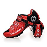 Smartodoors Breathable MTB/Road Cycling Shoes Racing Cycle shoes for Men Women (SD01-MTB-Black/red, US10/EU43/Ft27cm)