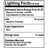 4 Pack BlueX CFL Blue Light Bulb 13W - 50-Watt