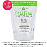 Pure Whey Protein Powder (Chocolate) by SFH | Best Tasting 100% Grass Fed Whey | All Natural | 100% Non-GMO, No Artificials, Soy Free, Gluten Free | 896g (Chocolate, 2 Pound Bag) Packaging May Vary