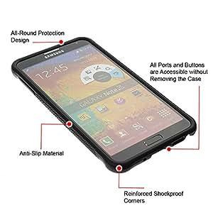 WAWU Funda Carcasa Bumper con Absorci??e Impactos y Anti-Ara??s Espalda Slim Rugged Armor -- panda scary stab funny cartoon horror -- Samsung Note 3