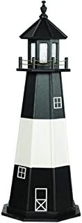 product image for DutchCrafters Decorative Lighthouse - Wood, Tybee Island Style (Black/White, 6)