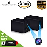 Hidden Spy Camera | 2 Pack | USB Charger | 1080P Full HD |Has Motion Detection | Loop Recording | Free Flash Transfer Stick | For Protection and Surveillance of Your Home and Office