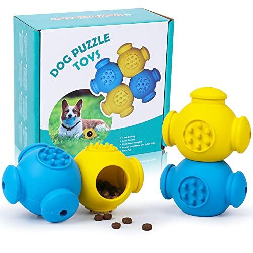 4er Pack Hundespielzeug Intelligenz Hunde-Puzzle-Spielzeug für langsames Fressen, Kauspielzeug Hund Leckerli-Spender…