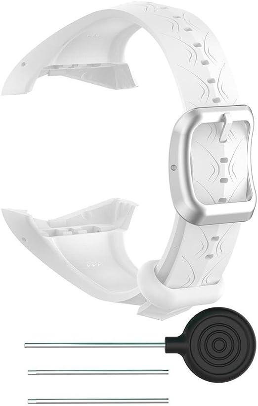 Taimot Banda para Polar FT60 Suave Ajustable Silicona Correa de Repuesto para Reloj Polar FT60 pulsómetro Reloj para Hombres y Mujeres, Women(16mm), Blanco: Amazon.es: Deportes y aire libre