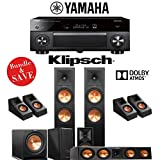 Klipsch RP-280F 5.1.4-Ch Reference Premiere Dolby Atmos Home Theater Speaker System with Yamaha AVENTAGE RX-A3080 9.2-Channel 4K Network A/V Receiver