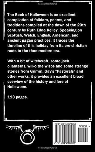 the book of halloween a historical treatment ruth edna kelley tarl warwick 9781548246259 amazoncom books