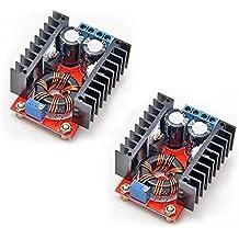 Gowoops 2PCS 150W DC-DC 10-32V to 12-35V Step Up Boost Converter Module Adjustable Power Voltage