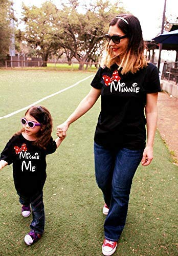 6c7b47c3 Amazon.com: 2 Shirts- disney fan Mommy and Me Minnie Shirts, family  matching, Minnie Me, matching mother daughter outfit mickey mouse mama FREE  SHIPPING: ...