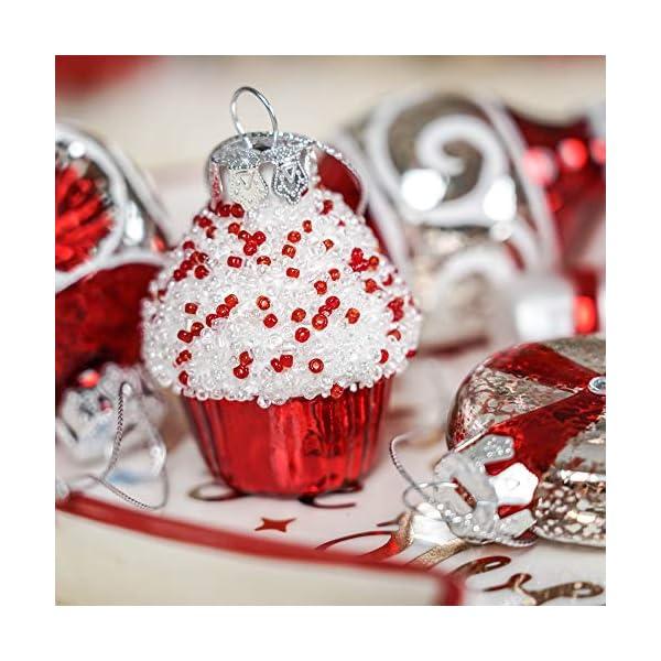 Valery Madelyn Palle di Natale Vetro Addobbi Natalizi Set, 16 Pezzi 6-8cm Traditional Red And White Palline di Natale Decoration for Addobbi Natalizi per Albero 5 spesavip