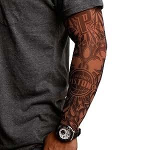 Nba detroit pistons dark undertone tattoo for Tattoo sleeves amazon