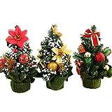 3 Pcs Christmas Tree 7.87'' Mini Table Decorated Artificial Christmas Ornament Tree
