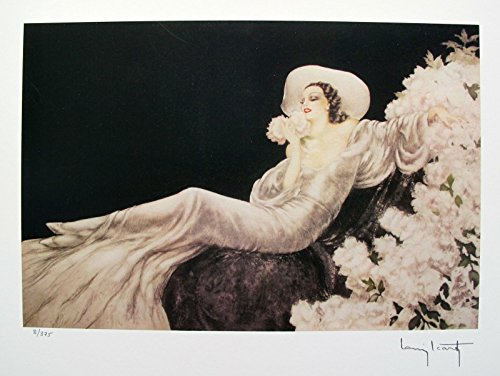Artwork by Louis Icart Parfum De Fleurs Facsimile Signed Limited Edition Small Giclee Print. After the Original Painting or Drawing. Art Paper 10 Inches X 14 Inches Image 8 Inches ()