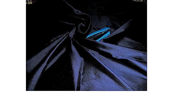 Puresilks 100/% Pure Silk Dupioni Fabric Navy Blue 54 With Slubs
