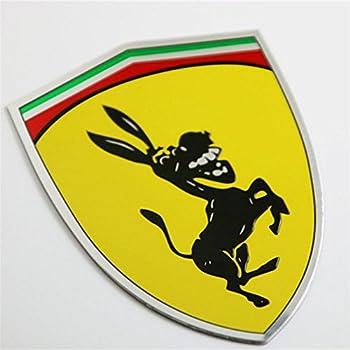 Amazon Com 2 X Ferrari Real Aluminum Rare Car Logo Badge