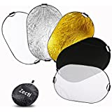 Zecti ZT-009 5 in 1 Collapsible Multi-Disc Photography Light Reflector, 40 x 59, black