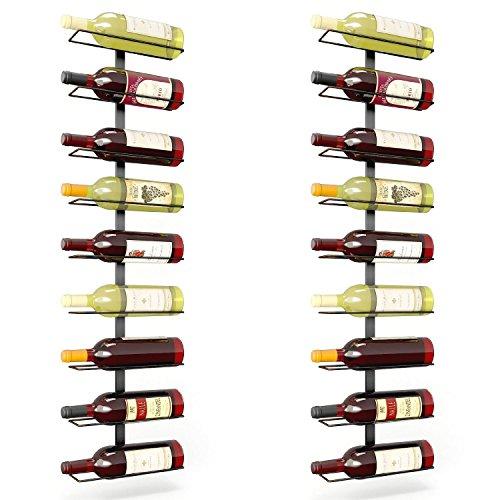 True Fabrications Wall Mount Wine Rack Holds 9 Bottles