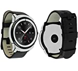 Skinomi TechSkin - LG G Watch R Screen Protector + Silver Carbon Fiber Full Body Skin Protector / Front & Back Wrap / HD Clear Film / Ultra Invisible & Anti-Bubble Shield