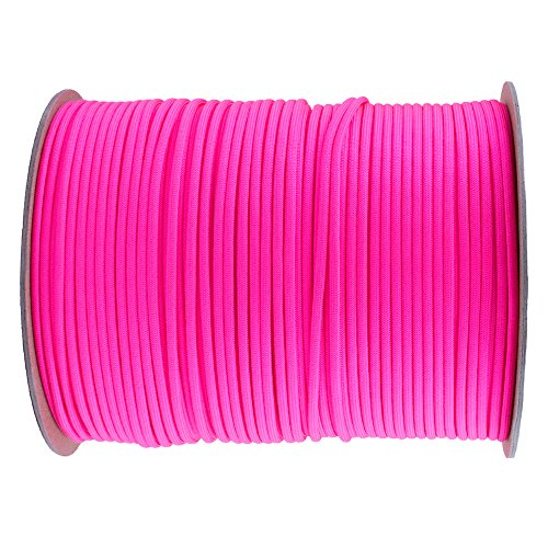 Paracord Planet Nylon 7 Type III Strand Inner Core Paracord - 100 Feet, Neon - Neon Orange And Pink