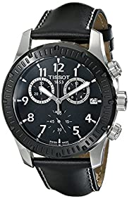 Tissot Men's T0394172605700 V8 Analog Display Swiss Quartz Black Watch