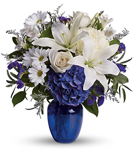 Chicago Flower Co. - Beautiful in Blue - Fresh and Hand Delivered by Chicago Flower Company