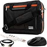 "EL Prado 3-in-1 Hybrid Orange Trim Laptop Bag w/ 3PC Accessory Bundle for Acer Aspire / TravelMate / Spin / Swift / ChromeBook / V Nitro / Predator / 14""-15.6in"
