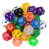 25 Pack of Random D12 Polyhedral Dice in Multiple Colors by Wiz Dice
