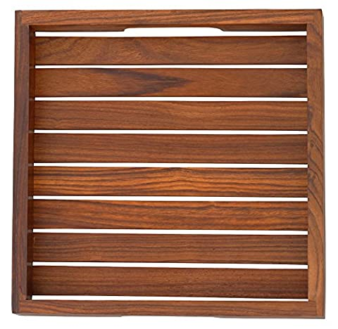 "Wooden Decorative Tray - 8"" Striped Serving"