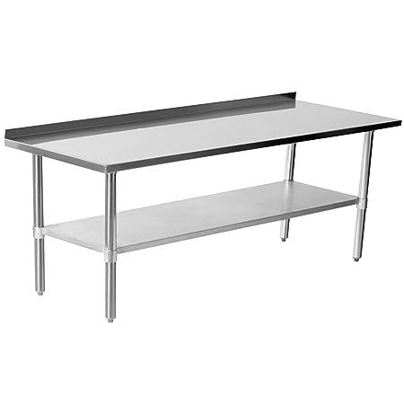 Acero inoxidable mesa mesa de trabajo Mesa de cocina Acero ...