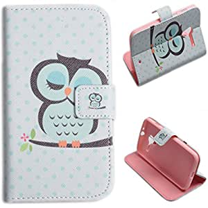 Einzige Slim Fit Leather Case Cover for Motorola Moto X with Free Universal Screen-stylus (Pink/ Sleepy Owl)