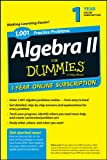 1,001 Algebra I Practice Problems for Dummies, Online 1-Year Subscription, Sterling, 1118843827
