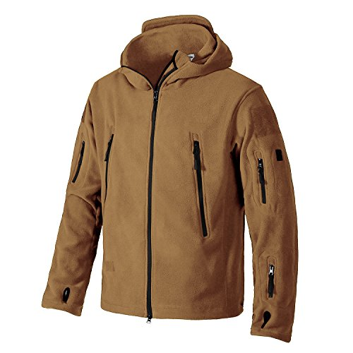Magcomsen Men 's Camping Warm Military Tactical Fleece Jacket