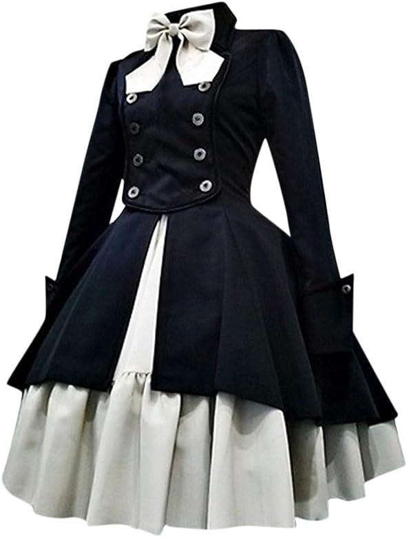 Vintage Gothic Princess Ruffle formally dress Lolita cosplay Court dress New