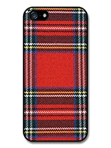 Cool Red Blue and Yellow Scottish Tartan Pattern case for iPhone 5 5S