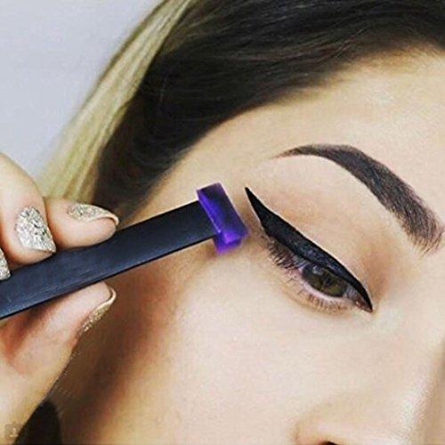 ForUBeauty Eyeliner Stamp Set Drawing Eyeliner Liquid Easy to Makeup Eye Wing