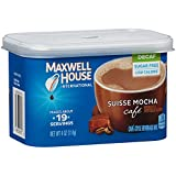 Maxwell House International Café Flavored Instant Coffee, Suisse Mocha, Decaf & Sugar Free, 4 Ounce Canister (Pack of 4)