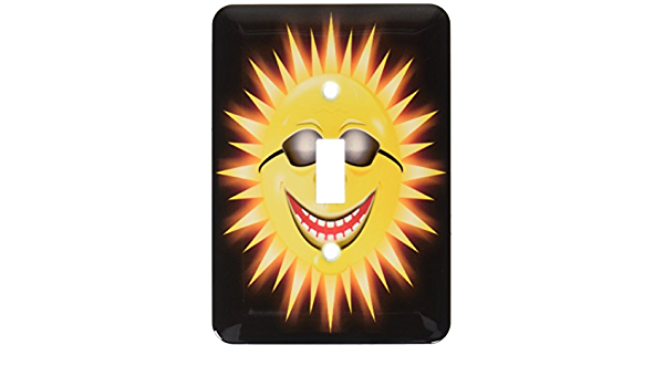 3drose Lsp 18159 1 Sunshine A Happy Sunny Face Wearing Sunglasses With A Smile Toggle Switch Switch Plates Amazon Com