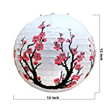 Smeiker Chinese Japanese Red Cherry Flowers